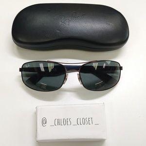 🕶️RB3527 Ray-Ban Rectangular Sunglasses/EUH850🕶️